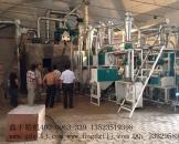 山西长治35吨面粉加工设备安装现场