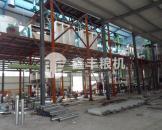 鑫丰山东客户日加工200吨玉米加工设备安装完毕