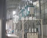 河南南阳40吨面粉机组安装图例