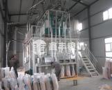 新疆50吨玉米深加工机械安装案例